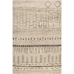 "Safavieh Tunisia 2'6"" X 12' Power Loomed Polypropylene Rug in Beige - TUN1711-BEG-212"