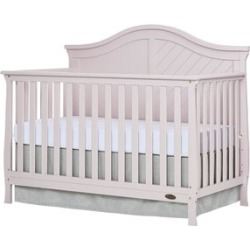 Dream On Me Kaylin 5 in 1 Convertible Crib in Blush Pink