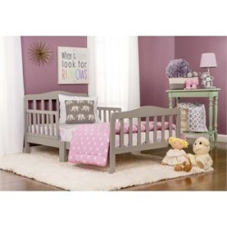 Dreamonme Classic Design Toddler Bed in Gray - 624-CG