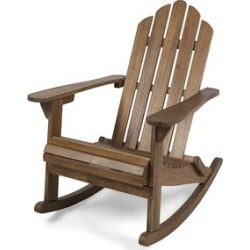 Noble House Hollywood Outdoor Adirondack Acacia Wood Rocking Chair Dark Brown found on Bargain Bro Philippines from Cymax for $172.99