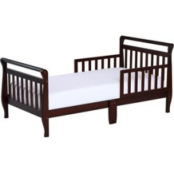 Dream On Me Sleigh Wooden Toddler Bed in Espresso