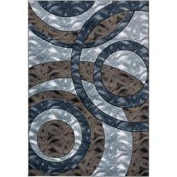 MDA Home Orelsi Blue/Brown Contemporary Polypropylene Area Rug - 5'2