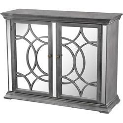 Sterling Kiruna Accent Cabinet in Black and White Dust - 3183-010