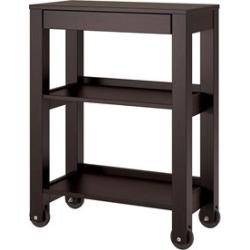 Ameriwood Home Parsons Wide Storage Cart in Espresso - 9256296COM