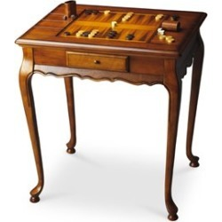 Beaumont Lane Accent Game Table in Olive Ash Burl found on Bargain Bro Philippines from Homesquare for $407.99