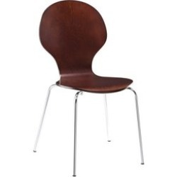 Ameriwood DHP Bentwood Round Side Chair in Espresso - 3332196