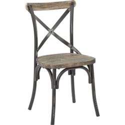 Somerset Antique Black Metal Chair With X-Back found on Bargain Bro Philippines from Homesquare for $104.99