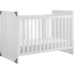 Baby Relax Miles 2 in 1 Convertible Crib in Classic White