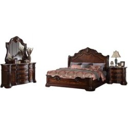Best Master Barney's Traditional 5-Piece Queen Set in Walnut w/Marble Top found on Bargain Bro Philippines from Homesquare for $4763.99