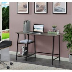 Designs2Go Trestle Desk in Weathered Gray Wood with Black Metal Frame found on Bargain Bro Philippines from Homesquare for $108.99