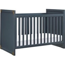 Dorel Asia Baby Relax Miles 2 in 1 Convertible Crib in Graphite Blue - DA7319B2-BLJJ