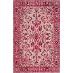 Safavieh Valencia 4' X 6' Power Loomed Polyester Rug in Fuchsia found on Bargain Bro Philippines from Cymax for $123.99