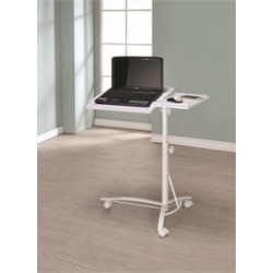Coaster Furniture Adjustable Mobile Laptop Stand in White - 802215