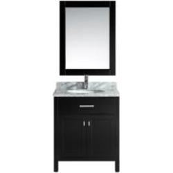 "Design Element DEC076E London Stanmark 30"" Freestanding Single Sink Bathroom Vanity Set in Espresso"