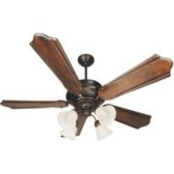 """Craftmade K10773 Townsend 5 Blades 56"""" Indoor Ceiling Fan with Incandescent Light Kit in Classic Ebony"""