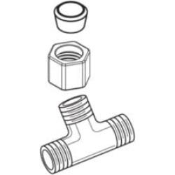 Moen 124652 Ferrule Hardware Kit for Two Handle Bidet Faucet