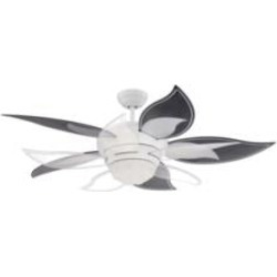 """Craftmade BL52W Bloom 10 Blades 52"""" Indoor Ceiling Fan with Lighting Kit and Remote Control in White"""