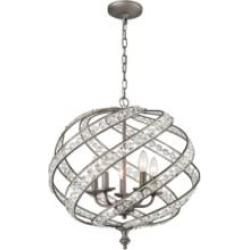 """Elk Lighting 16253-5 Renaissance 5 Light 21"""" Incandescent Chandelier Light in Weathered Zinc"""
