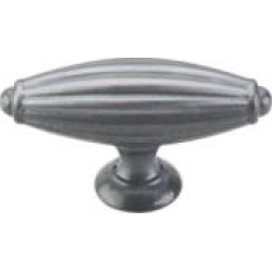 """Top Knobs M157 Tuscany 2 7/8"""" Zinc Alloy T-Shaped Large Cabinet Knob in Pewter Light"""