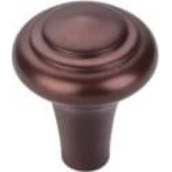"Top Knobs M1483 Aspen 1"" Cast Bronze Mushroom Shaped Peak Cabinet Knob in Mahogany Bronze"