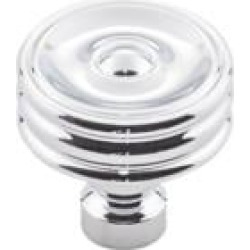 "Top Knobs TK881 Devon 1 1/4"" Zinc Alloy Designer Shaped Brixton Ridged Cabinet Knob"