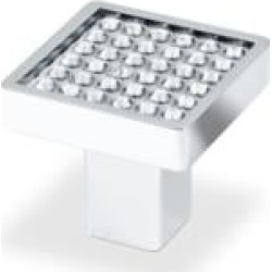 """Topex P2058CRLSWA Swarovski Crystals 1"""" Small Square Cabinet Knob with Round Crystals"""