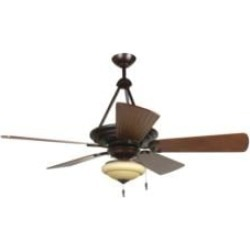 """Craftmade K11228 Metro 5 Blades 54"""" Indoor Ceiling Fan with CFL Light Kit in Hand-Scraped Walnut"""