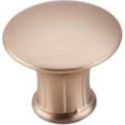"Top Knobs M1593 Edwardian 1 1/4"" Zinc Alloy Mushroom Shaped Lund Cabinet Knob in Brushed Bronze"