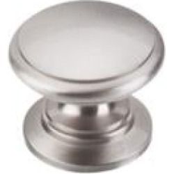 "Top Knobs M351 Somerset II 1 1/4"" Brass Mushroom Shaped Ray Cabinet Knob in Brushed Satin Nickel"