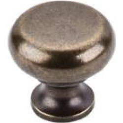 "Top Knobs M276 Somerset II 1 1/4"" Brass Mushroom Shaped Flat Faced Cabinet Knob in German Bronze"
