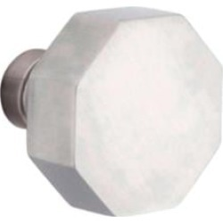 """Emtek S30003SS 2 1/2"""" Pair of Dummy Door Knob with Square Rosette in Stainless Steel"""