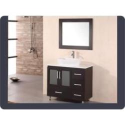 """Design Element B36-VS Stanton 36"""" Freestanding Single Vessel Sink Bathroom Vanity Set in Espresso"""