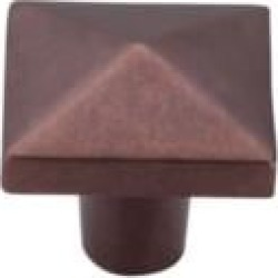 "Top Knobs M1523 Aspen 1 1/2"" Cast Bronze Square Shaped Cabinet Knob in Mahogany Bronze"