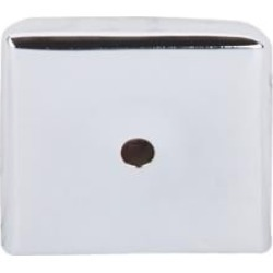 """Top Knobs M2021 Aspen II 1 1/4"""" Cast Bronze Square Cabinet Knob Backplate in Polished Chrome"""
