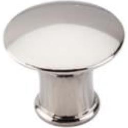 "Top Knobs M1307 Asbury 1 1/4"" Zinc Alloy Mushroom Shaped Lund Cabinet Knob in Polished Nickel"