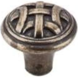 "Top Knobs M165 Tuscany 1"" Zinc Mushroom Shaped Celtic Small Cabinet Knob in German Bronze"