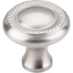 "Top Knobs M326 Somerset II 1 1/4"" Brass Mushroom Shaped Swirl Cut Cabinet Knob in Brushed Satin Nickel"