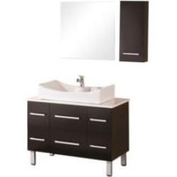 "Design Element DEC012A Designer's Pick Paris 36"" Freestanding Single Sink Bathroom Vanity Set in Espresso"