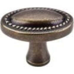 "Top Knobs M402 Somerset II 1 1/4"" Zinc Oval Shaped Rope Cabinet Knob in German Bronze"
