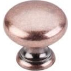 "Top Knobs M289 Somerset II 1 1/4"" Brass Mushroom Shaped Cabinet Knob in Antique Copper"