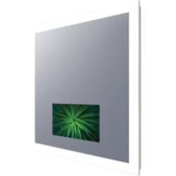 """Electric Mirror SIL-215-AV Silhouette 36"""" - 66"""" Wall Mount Rectangular Lighted Mirror with 21"""" LED TV"""