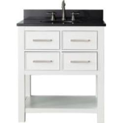"Avanity BROOKS-VS30-WT Brooks 30"" Free Standing Single Bathroom Vanity Set in White Finish"