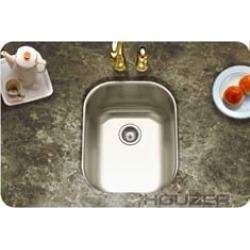 Houzer CS-1407-1 Club Undermount Medium Bar/Prep Sink