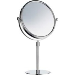 """Smedbo FK435 Outline 7 7/8"""" Free Standing Two-Sided Shaving Make-Up Mirror in Polished Chrome"""