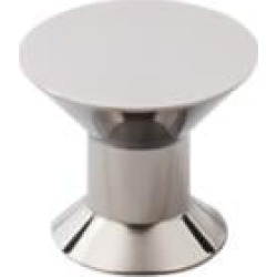 """Top Knobs SS45 Stainless II 1 1/4"""" Steel Cone Shaped Cabinet Knob in Polished Stainless Steel"""