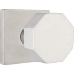 "Emtek S0003SS 2 1/2"" Door Knob Set with Square Rosette in Stainless Steel"