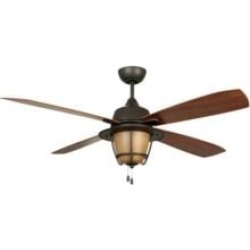 """Craftmade MR56ESP4C1 Morrow Bay 4 Blades 56"""" Outdoor Ceiling Fan with Light Kit in Espresso"""