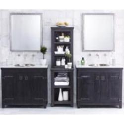 "Native Trails BNDA81 Americana 36"" Freestanding Double Bathroom Vanity Set in Anvil"