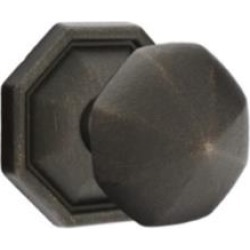 "Emtek 7015 2 1/2"" Door Knob Set with Lost Wax Cast Bronze Octagon Rosette"