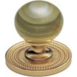 "Phylrich K90 Regent/Versailles 1 3/8"" Green Onyx Round Shaped Cabinet Knob"